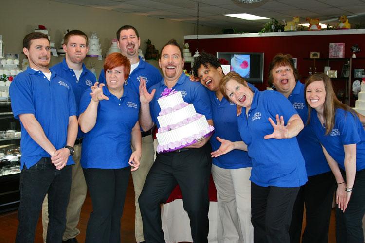 "Our Wedding Wonderland ""Cake Artists"" having a little fun!"